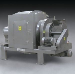 A new Model 700-THX-50-ARI Rotary Batch Mixer from Munson Machinery mixes concrete, premix, mortar mix, glass/cullet, fibreglass, refractories, tungsten powder, ceramics and other abrasives in one to three minutes with minimised abrasive wear or product degradation.