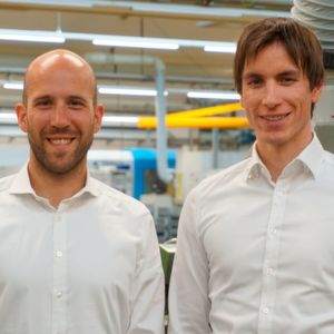 "In the third generation, Manuel (34) (right) and Fabian (33) Eberhard will jointly lead family buisiness Gebrüder Eberhard. ""Our most valued asset for success is our employees,"" Fabian E. notes."