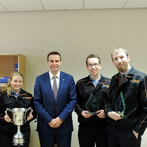 Yamazaki Mazak apprentices win three training awards
