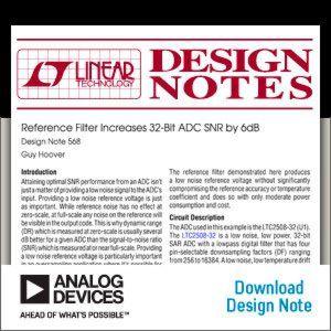 Referenzfilter verbessert den SNR eines 32-Bit-A/D-Wandlers um 6 dB