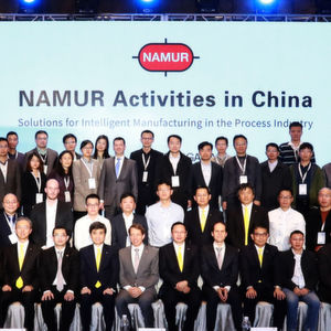 Namur China working groups presented expectations, trials, and proved solutions at the conference, which covered information acquisition, data analyzing, data transferring and final solution implementation.