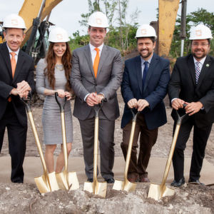 Sintavia breaks ground on new 16,700 square meters advanced manufacturing facility (from left to right, Doug Hedges, Sintavia's President & COO; Jana Neff, Co-Owner; Brian Neff, CEO & Co-Owner; Gus Zambrano, Assistant City Manager, City of Hollywood; and Mayor Josh Levy, City of Hollywood).
