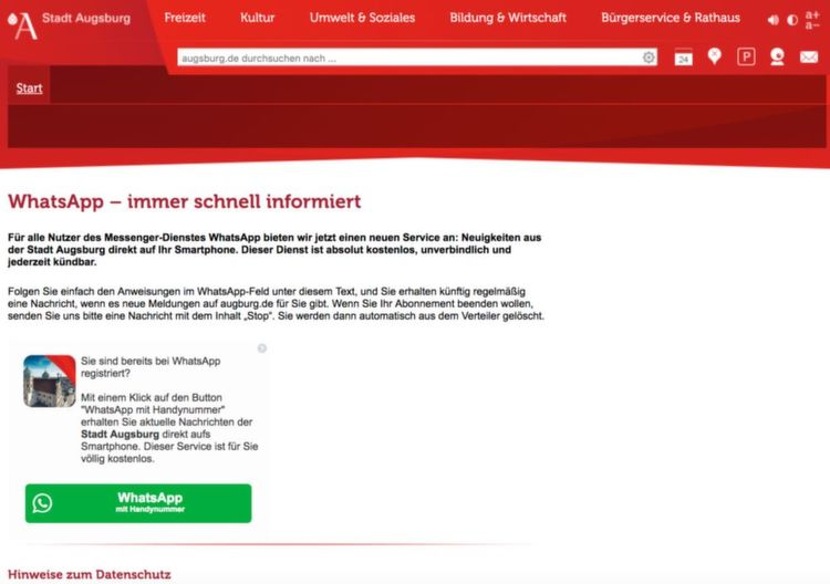 Whatsapp Newsletter Nachrichten