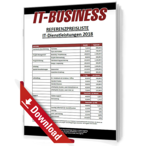 IT-BUSINESS Referenzpreisliste IT-Dienstleistungen