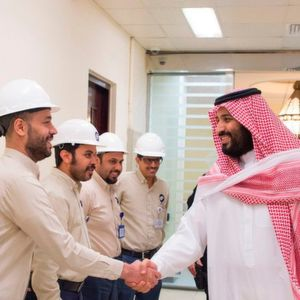 Crown Prince Mohammad bin Salman pays a visit to a desalination plant in Jeddah.