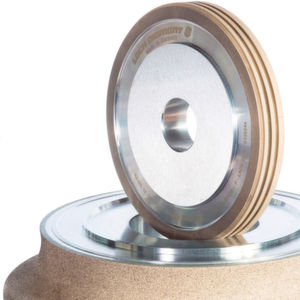 "The ""contour-profiled"" grinding wheel replaces the whole set of wheels normally required to get the same job done."