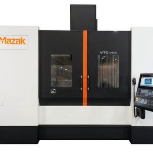 Mazak's VTC-760C vertical travelling column machining centre features a Siemens 828D control.