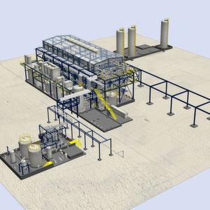 3D animation of the turnkey chlor-alkali electrolysis plant