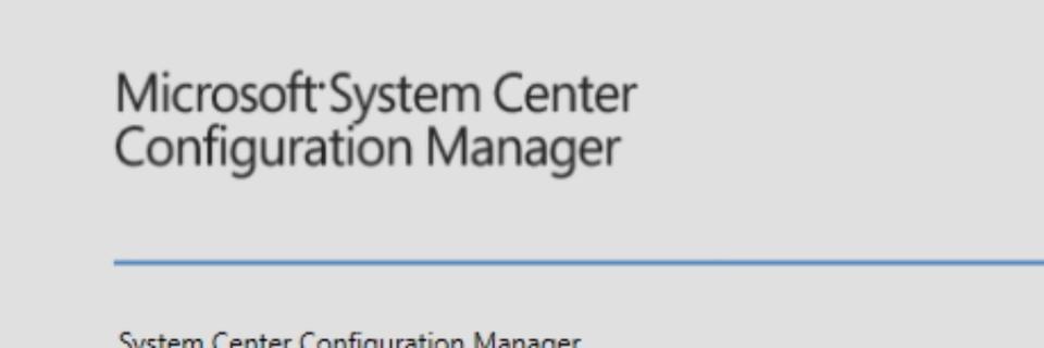 SCCM-Client manuell installieren