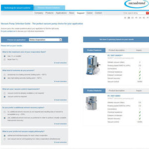 The new online tool from Vacuubrand – the 'Vacuum Pump Selection Guide' makes the process of finding the best vacuum pump much easier.