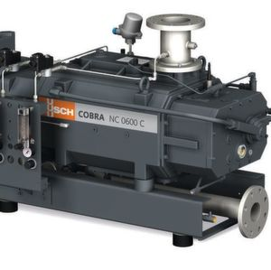 The Cobra NC 0600 C dry screw vacuum pump is used for transporting explosive and temperature-sensitive gases.