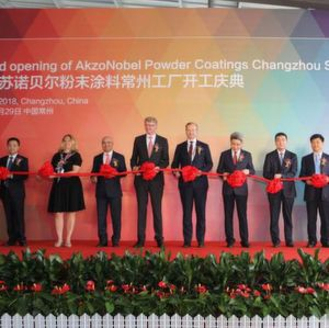 Inauguration of the Changzhou plant: The 46 million dollar facility will supply an extensive range of products to meet the growing demand of sustainable coatings solutions.