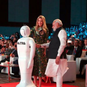Made in India robot – Mitra greeted the Prime Minister of India and Ivanka Trump, daughter of US President Donald Trump at the Global Entrepreneurship Summit.