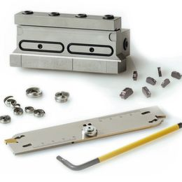 Efficient, simple grooving and parting-off series with longer tool life
