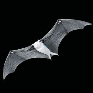 Capable of moving in a defined space, the flying fox robot communicates with a motion-tracking system.