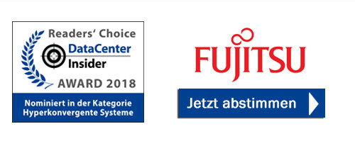 Fujitsu ist nominiert in der Kategorie Hyperkonvergente Systeme