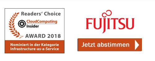 Fujitsu ist nominiert in der Kategorie IaaS - Infrastructure-as-a-Service