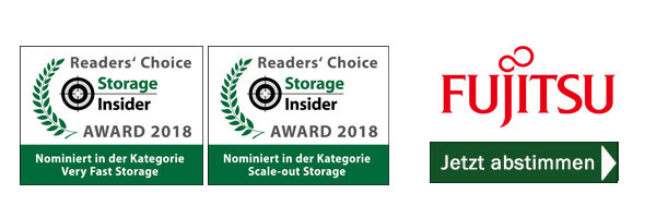 Fujitsu ist nominiert in den Kategorien Scale-out Storage und Very Fast Storage