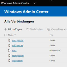 Das Windows Admin Center in der Praxis