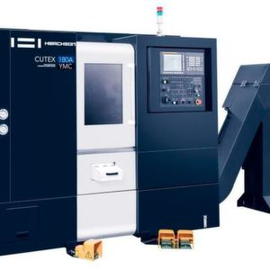 The Cutex-180 compact lathe with the ±55-mm-Y-axis model is said have the largest travel range in its class and, as such, offers advantages in terms of machining performance and productivity.