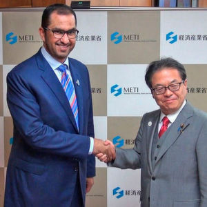 His Excellency Dr Sultan Ahmed Al Jaber, UAE Minister of State and Group CEO of Adnoc recently met with Japan's Hiroshige Seko, Minister of Economy, Trade and Industry.