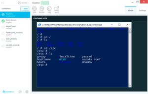 Start eines Busybox-Containers mit Kitematic unter Windows 10.