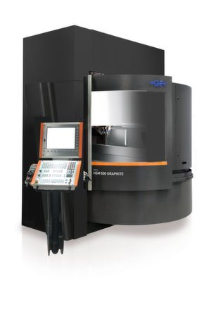GF Machining Solutions' Mikron HSM 500 Graphite is configured specifically for machining graphite electrodes, with Step-Tec's new 42,000 rpm HVC140 Spindle, integrated System 3R Work-Partner 1+ (WPT1+), and integrated dust exhaust.