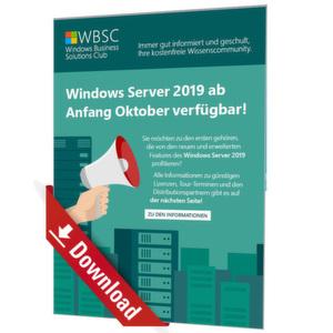 Windows Server 2019 ab Anfang Oktober verfügbar!