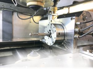 The customer-specific broaching tool was produced on a Mitsubishi wire EDM machine programmed with Esprit.