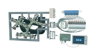 A synflow-equipped hot runner system. A 6-drop hot runner system will be demonstrated at Fakuma.