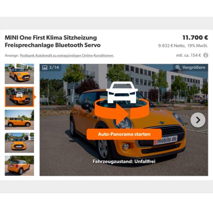 Mobilede Startet 360 Grad Fotofunktion