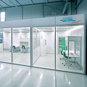 The new cleanroom system CleanCell4.0 has a high energy efficiency.