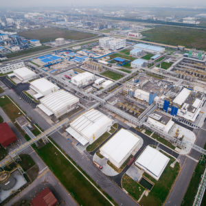 BASF's new automotive coatings plant in Caojing, China.