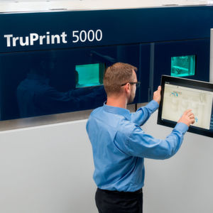 The automatic process in Truprint 5000 eases the manual workload and enhances mass additive manufacturing.