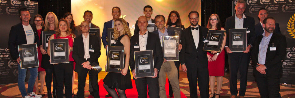 Die Gewinner der sechs Development-Kategorien der 2018er Readers' Choice Awards.