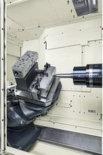 Innovative Z table design of a500Z horizontal 5-axis machining centre.