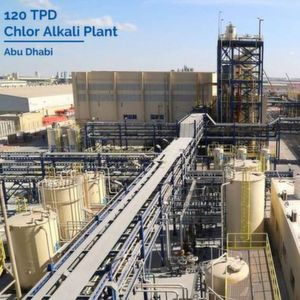 The 120 TPD chlor-alkali plant in Abu Dhabi was commissioned in 2015. Nuberg EPC delivered the project as a single point solution company.