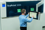 The automatic process in Truprint 5000 eases the manual workload and enhances mass additive manufacturing and will be presented at Trumpf's booth at Formnext.