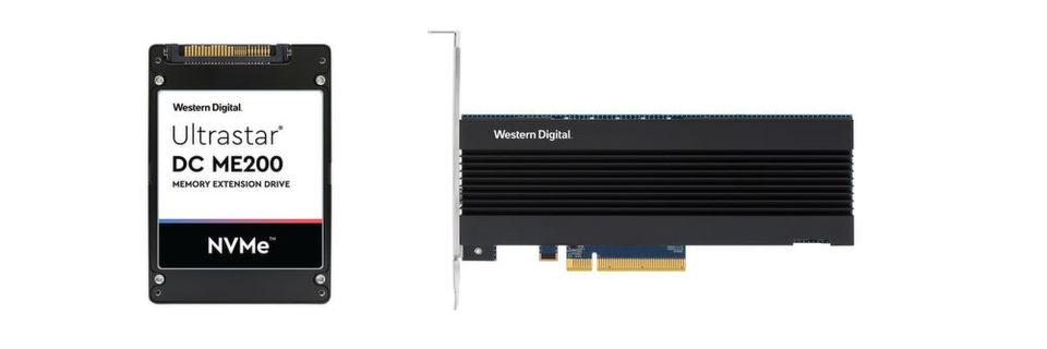 Western Digital offers a 2.5-inch U.2 Ultrastar DC ME200 and a half-high PCIe PCI Express card.