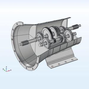 Vibration und Schall in einem Getriebe modellieren