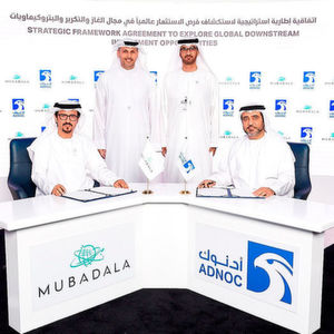 The agreement between Adnoc and Mubdala was signed by Abdulaziz Alhajri, Director of Adnoc's Downstream Directorate and Musabbeh Al Kaabi, CEO of Petroleum and Petrochemicals, Mubadala.
