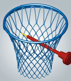 Open Mind's Hypermill was used to machine the basketball hoop from an aluminium block.
