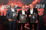 """VAD IT-Security"": Andreas Bechtold, Infinigate (Platin), Alexander Hassl, Ebertlang (Gold) und Florian Zink, Exclusive Networks (Gold) (v.l.)"