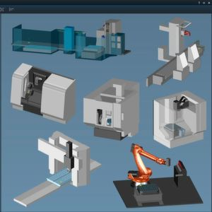 The Tebis machine library contains more than 800 virtual machine models in 3,000 variants – including multi-axis machines such as turning/milling machines and lathes with a main and secondary spindle.