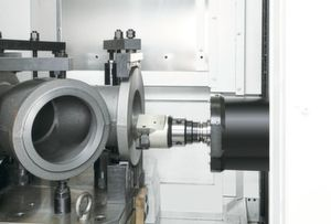 As the tool approaches critical sections of a long thread, Variable Spindle Speed Threading adjusts spindle speeds to avoid chatter.