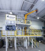 The production facility for metal powder used in 3D printing.