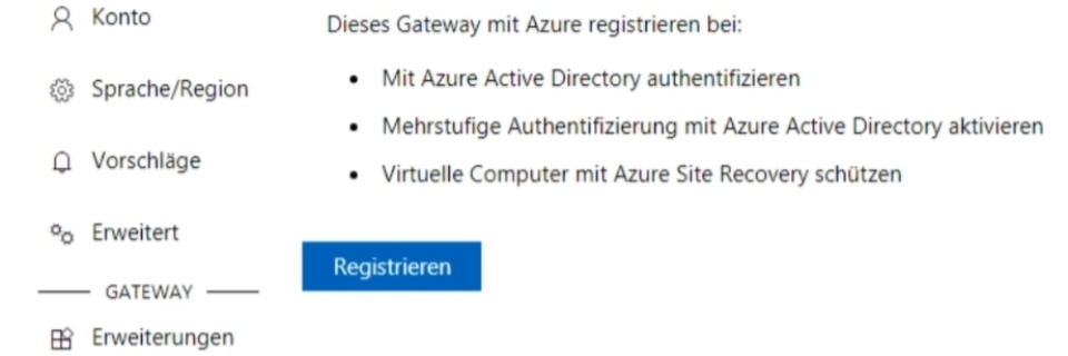 Windows Admin Center und Microsoft Azure