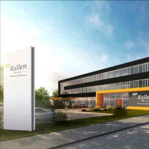 Modern functionality: The three-storey new building represents the new headquarters of KULLEN-KOTI and becomes the headquarters of the management and its staff. The picture shows a design from the design phase.