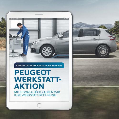 """peugeot: """"wir zahlen ihre rechnung""""-gewinnspiel gestartet"""