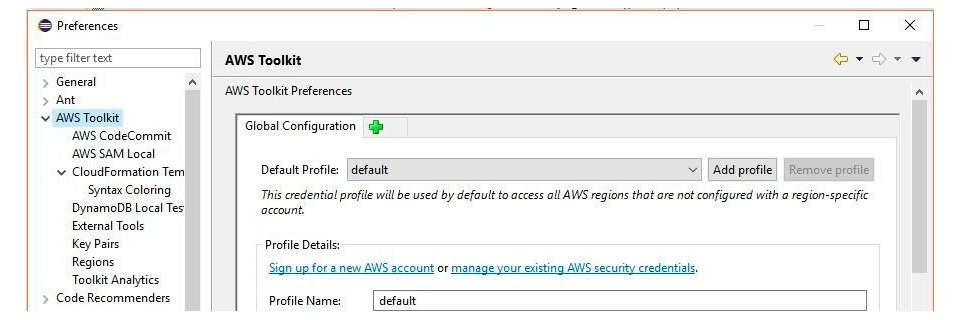AWS SDK for Java in Eclipse integrieren